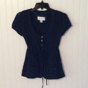 American Eagle Cinched Waist Sweater Top - M